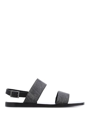 Etro Deri Sandalet Siyah